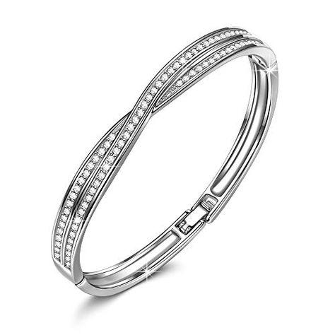 SLUYNZ 925 Sterling Silver Elegant Link Bracelet for Women Teen Girls Snake Bracelet