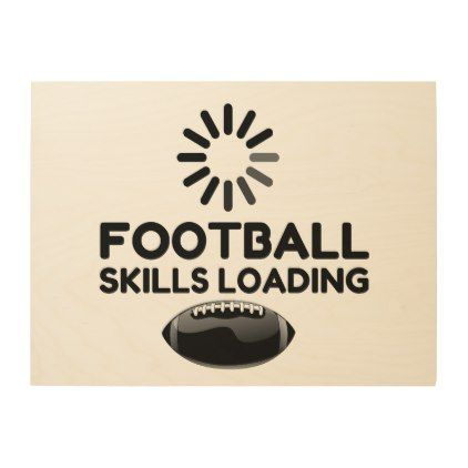 Football Skills Loading Wood Wall Art Zazzle Com Wood Wall Art Wood Wall Wood Canvas