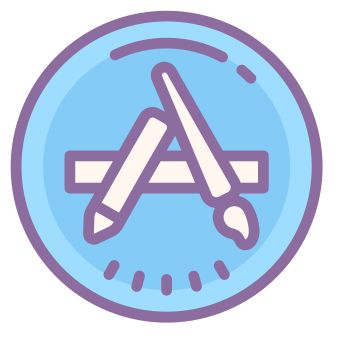 App store icons in Cute Color style for graphic design and user interfaces App Iphone, Iphone App Layout, Iphone App Design, Iphone Icon, Logo Application, Application Telephone, Wallpaper App, Apps Kawaii, App Store Icon