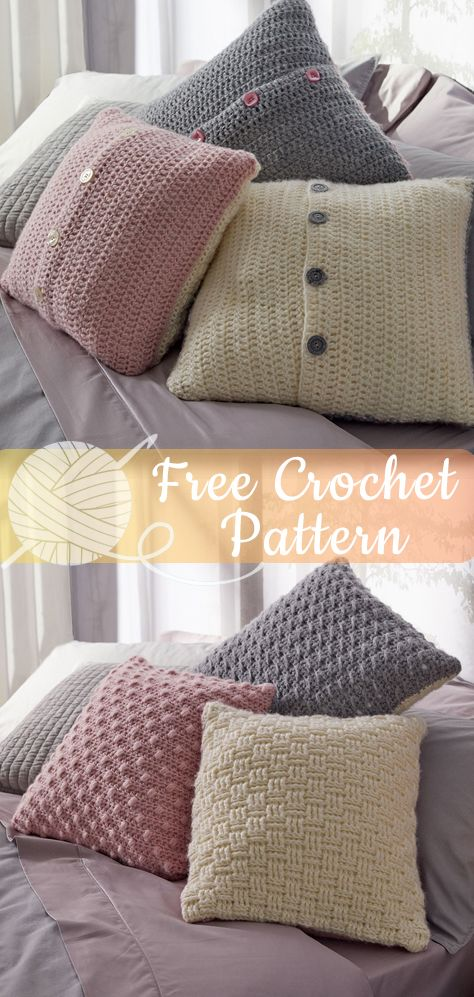 Luxe Pillow Trio Crochet Free Patterns Freecrochetpatterns Crochet Freecrochet E Crochet Pillow Patterns Free Crochet Pillow Cover Crochet Pillow Pattern