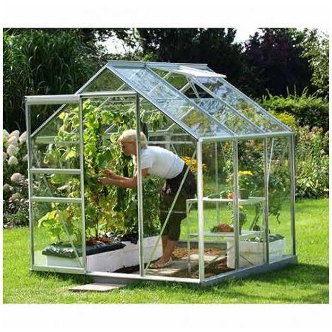 Serre De Jardin En Verre Trempe Venus Pas Cher Serre De Jardin Manomano En 2020 Serre Arriere Cour Maison Verte Et Serre Jardin