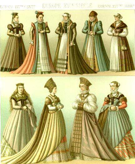 Mercados Medievales y Renacentistas: Moda en el Renacimiento Europe: nobles