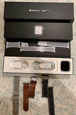 Apple Watch Nike Series 4 Gps Non Cellular 44mm Silver Aluminum Mtxc2ll A Ebay Apple Watch Nike Apple Watch Ebay