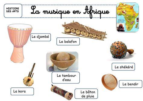 MUSIQUE instruments africains
