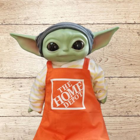 Baby Yoda Career Day Apron - Apron only