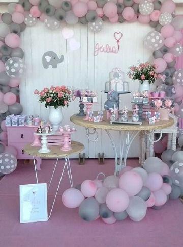 Decoracion Mesa De Baby Shower Nina.Adornos De Mesas Decoradas Para Fiestas En 4 Estilos