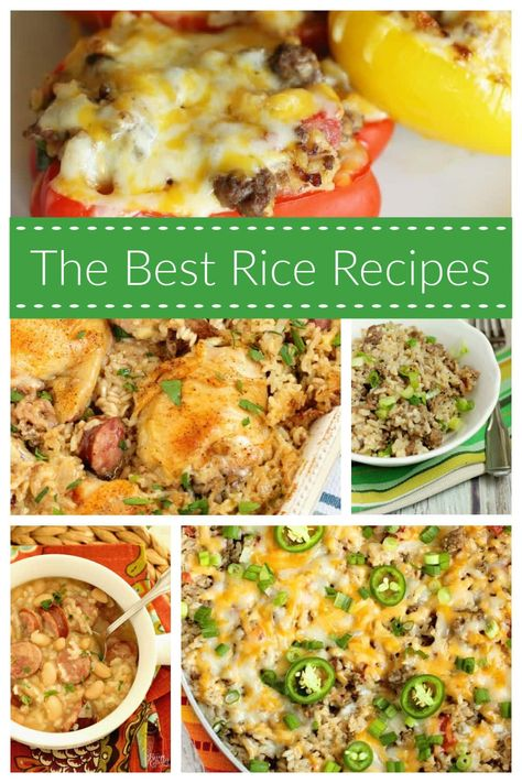 Best Rice Dish Recipes - This list has all of our favorite rice dishes here on the blog! From rice cooker recipes to instant pot to one-pot recipes, you are sure to find many you will love!