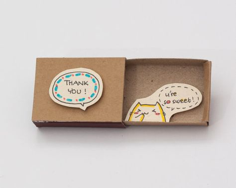 Thank you Card You're so sweet Matchbox / Gretting by 3XUdesign