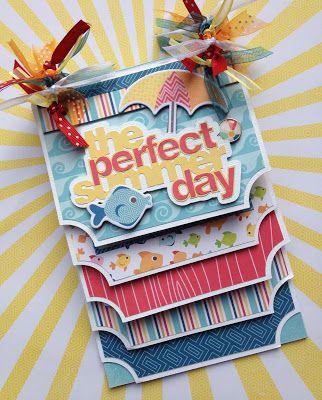 Albumes artsy Scrapbooking Kits y diseño del personalizado Albumes del libro de recuerdos porción Traci Penrod: A Perfect Summer Mini Album