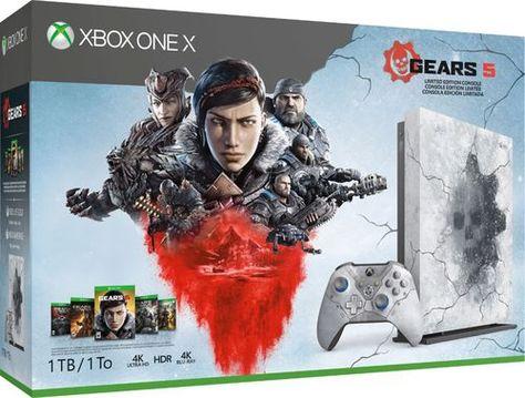 Microsoft Xbox One X 1tb Gears 5 Limited Edition Console Bundle Artic Blue Mit Bildern Gears Of War Gold 1 Konsole