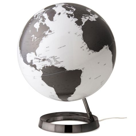 Waypoint Geographic Light and Color 12 in. Charcoal (Grey) Designer Series Desktop Globe