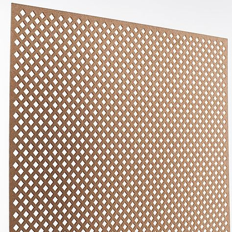 American Pro Decor 72 In X 24 In X 1 8 In Unfinished Diamond Decorative Perforated Paintable Mdf Screening Panel Insert 5apd10623 Products In 2019 Decorative Screen Panels Wood Ceiling Panels Decor
