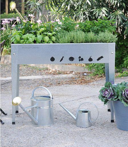 Herstera Garden Hochbeet Fur Balkon Terrasse Silber 100x40x84 Cm 1 Stuck Im Mein Schoner Garten Shop Hochbeet Balkon Hochbeet Pflanzenzubehor