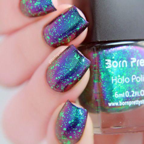 $2.79 - 6Ml Born Pretty Chameleon Nail Art Polish Varnish 33 (Black Base Color Needed) #ebay #Fashion