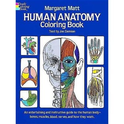 Human Anatomy Coloring Book Dover Children S Science Books By Margaret Matt Joe Ziemian Anatomy Coloring Book Science Books Human Body Bones