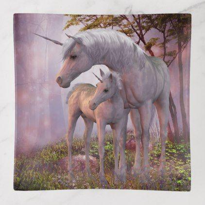 Enchanted Unicorns Trinket Tray - beauty gifts stylish beautiful cool