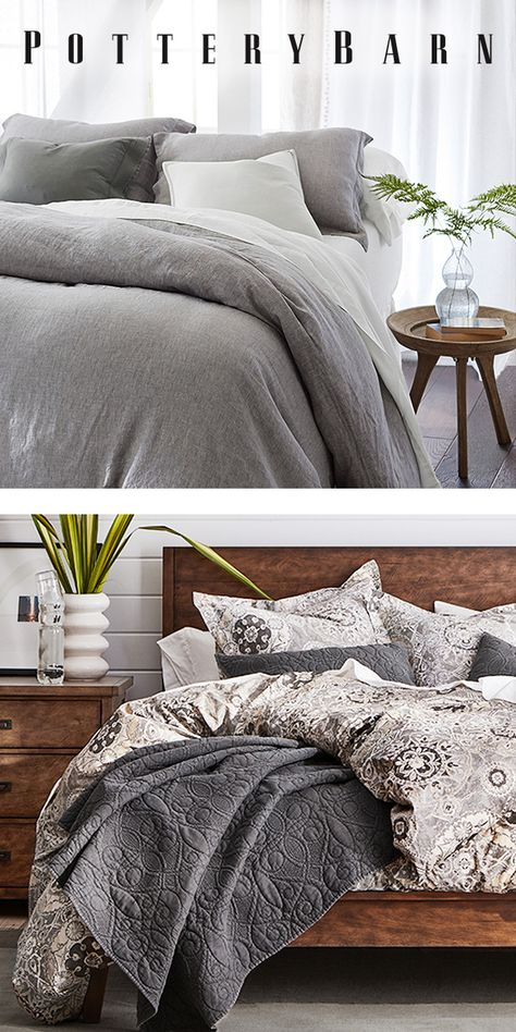 Ready to dream up a new bedroom look? From organic cotton to luxe linen, Pottery Barn has you covered. Shop our selection of quality sheets, duvets, comforters and more at PotteryBarn.com.