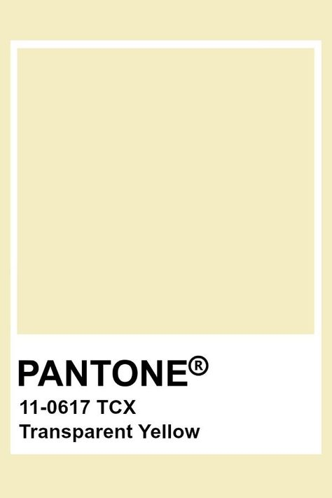 Pantone Transparent Yellow