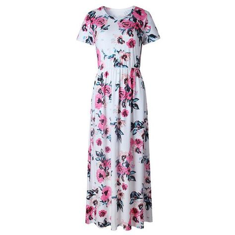 fb251acb15 Vintarfell Long Dress Women Summer 2018 Floral Print O Neck Maxi Sundress  Female With Pockets Vestidos De Festa Femme Plus Size.