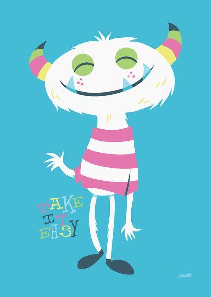 Take It Easy Art Print by gregabbott