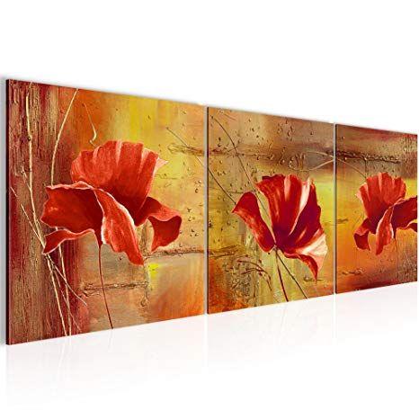 Affiliate Wandbild Blumen Mohnblume Bilder 120 X 40 Cm Vlies Leinwand Bild Xxl Format Wandbilder Wohnzimmer Wohnung Deko Kunstdruck Kunst Mohnblumen Bilder