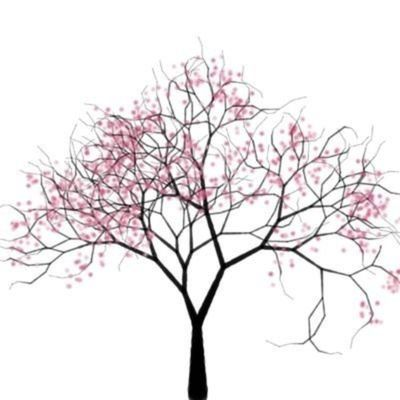 Real Words On Twitter Tree Drawing Japanese Cherry Tree Cherry Blossom Tree