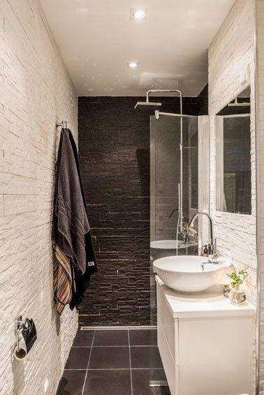 10 petites salles de bain pleines du0027astuces déco - salle de bain ardoise