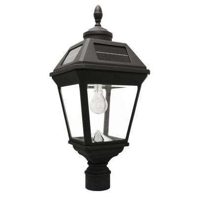 Imperial Bulb Series Single Black Integrated Led Solar Post Light With 3 In Fitter And Gs Solar Led Lig Solar Light Bulb Solar Post Lights Outdoor Solar Lamps