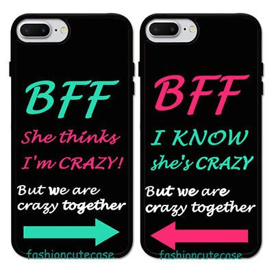 Fashion Crazy Sister Best Friend Phone Case Cover For Iphone 11 Xr 6 7 8 S10 S20 Ebay Friends Phone Case Bff Phone Cases Bff Phone Cases Iphone
