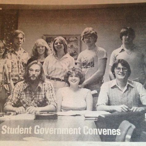 Student Government Association '79-'80 Back row L - R  Marianne Baxter, Craig Barnard, Kimberly, McClelland, Judy Swiatowy, Gary Whitney, Mark Arlaushas Front - Gary Timothy, Gene Ashe, Sue Quick, Chris Resig