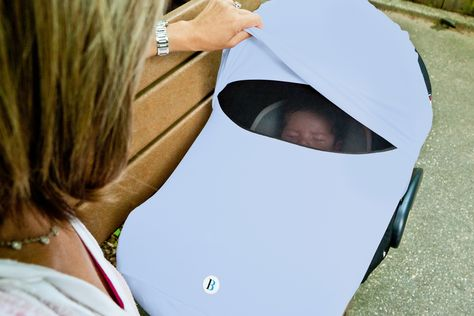 The Shade - carseat sun canopy for baby! And keeps those germy hands of pesky strangers away!