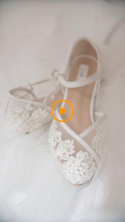 Scarpe Sposa Pizzo Bianche.Scarpe Da Sposa Cinturino Alla Caviglia In Pizzo Bianco Con