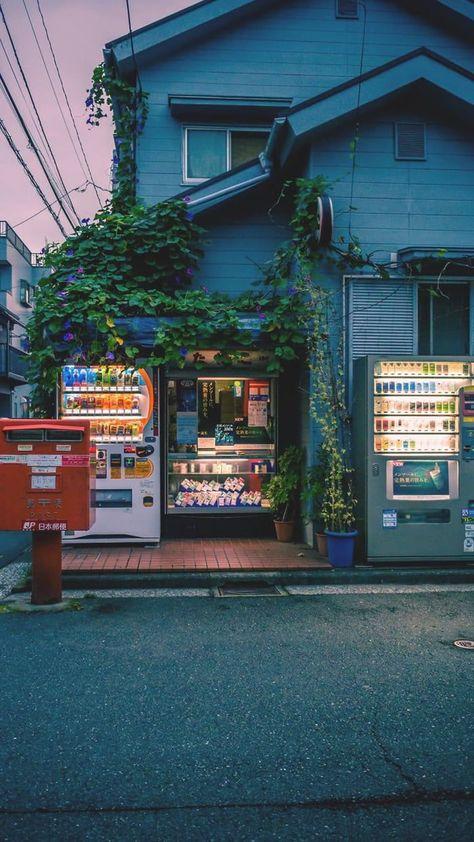 Cozy looking shop in Japan. - Cozy looking shop in Japan. Aesthetic Japan, City Aesthetic, Japanese Aesthetic, Aesthetic Anime, Aesthetic Outfit, Aesthetic Drawing, Aesthetic Bedroom, Scenery Wallpaper, Aesthetic Pastel Wallpaper