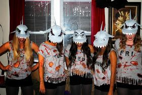 Okay here it is... my Halloween costume with me and 4 of my friends.       We only did Mon-Fri because we had a couple people back out at th...