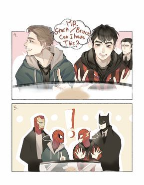 Spiderman: Homecoming & Justice League || Tony Stark,Peter