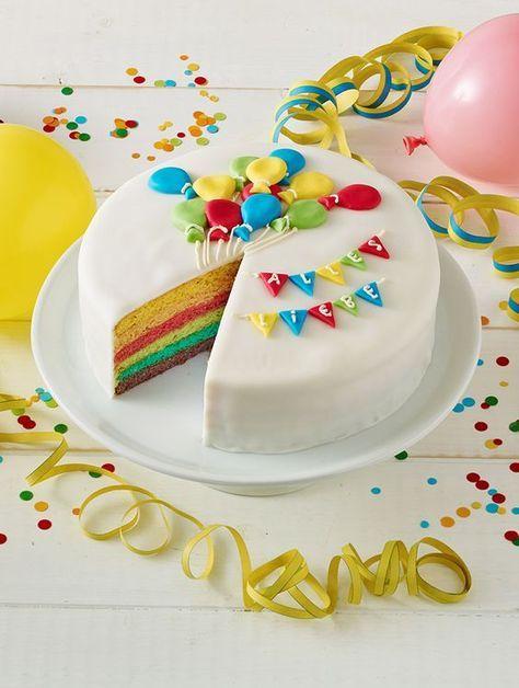 Regenbogentorte Rezept Mit Bildern Regenbogentorte Torte 1 Geburtstag Kuchen Kindergeburtstag