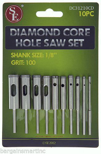 10pc 100 Grit Diamond Core Hole Saw Set 3 32 7 16 Drill Bit 4 Hs Rotary Tool Ebay Drill Set Hole Saw Rotary Tool