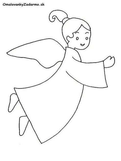 7104b9a1c Výsledok vyhľadávania obrázkov pre dopyt anjelik omalovanky | Anjel