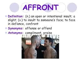 Affront - definition of affront by The Free Dictionary   194x259