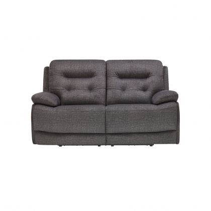 Dallas 2 Seater Electric Reclining Sofa Image 1 With Images Reclining Sofa Electric Recliners Grey Fabric Sofa