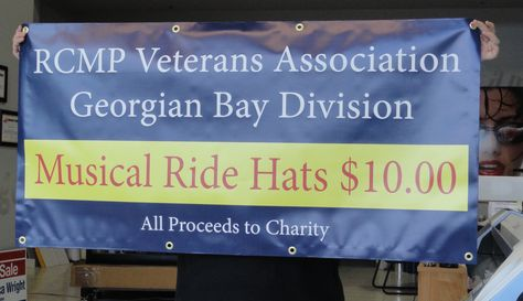This RCMP Musical ride banner completed by Speedpro Signs Barrie is a 2 ft by 6 ft banner for the RCMP Veterans Association of Georgian Bay!
