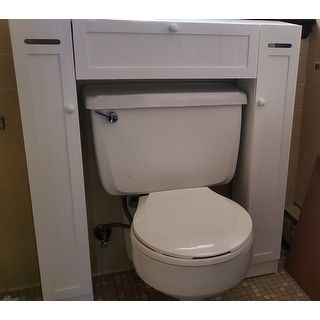 Simple Living Space Saver Over The Toilet Grey Gray Wood In 2020 Living Spaces Furniture Outlet Online Furniture