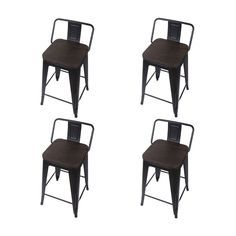 Poundex Bobkona Nara Set of Two Adjustable PU bar Stool with Armrest in Black