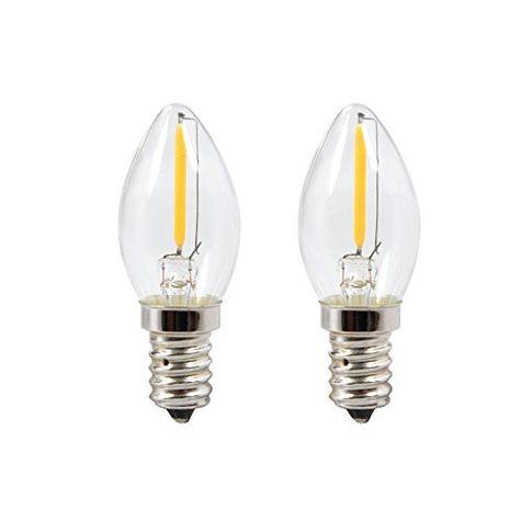 2 Pack LED Light Bulb Chandelier Candle E12