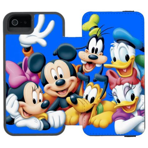Mickey & Friends   Kneeling Wallet Case For iPhone SE/5/5s