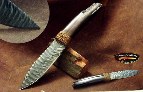 Steel knife crafted to look like stone.