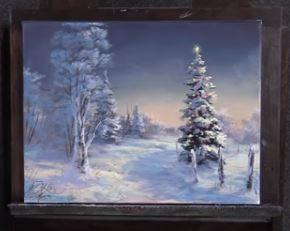 Dessin Et Peinture Video 2311 Comment Peindre Le Sapin De Noel