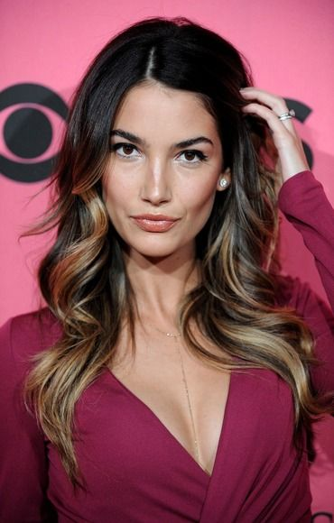 Lily Aldridge- the highlights -- guess we're both going longer and easier, darker color at he roots... Thanks Lily for the example