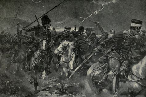 An Illustration Of A Cavalry Fight At The Battle Of Telissu During