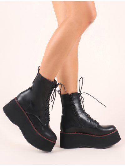 4cd5dd8fa49 Lolita Flatform Ankle Boots in Black | PUBLIC DESIRE STORE in 2019 ...